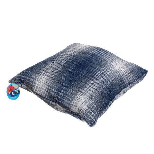 Подушка декоративная 44*44см ″Уют″ клетка синяя купить оптом и в розницу