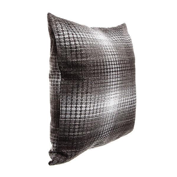 Подушка декоративная 44*44см ″Уют″ клетка серая купить оптом и в розницу