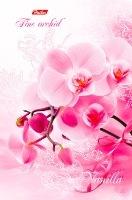 """Блокнот А6 120л.нелин.скрепка,тв.обл.HATBER, """"Розовая орхидея-ВАНИЛЬ"""" купить оптом и в розницу"""