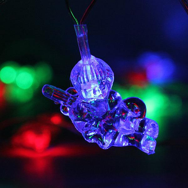 Гирлянда светодиодная 5,5м, 32 ламп LED, Купидон, RG/RB(красный,зеленый/красный,синий), ав.реж., пр. пров. купить оптом и в розницу