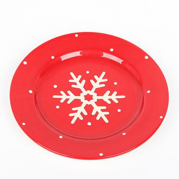 Тарелка керамическая 20см ″Снежинка″ купить оптом и в розницу
