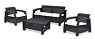 Комплект садовой мебели  Corfu box set отанг) 2 стула,диван,короб для подушек  коричневый купить оптом и в розницу