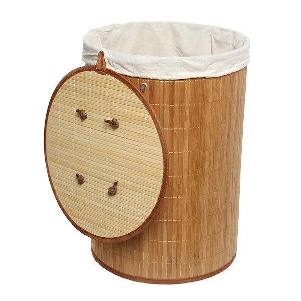 Корзина для белья бамбук 35х50 BK01/11 Natural купить оптом и в розницу