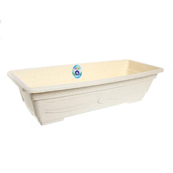 Кашпо для цветов садовое ″Ящик балконный″ 57х23х14см 3134 белый купить оптом и в розницу