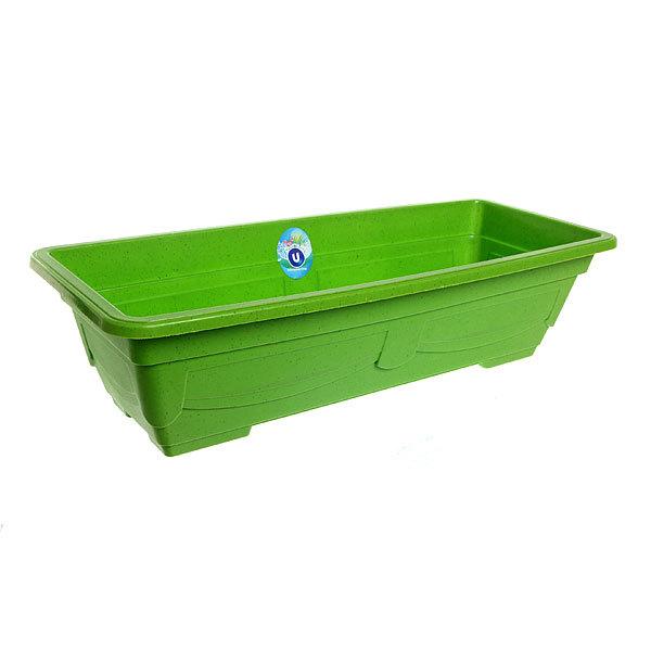 Кашпо для цветов садовое ″Ящик балконный″ 57х23х14см 3134 зеленый купить оптом и в розницу