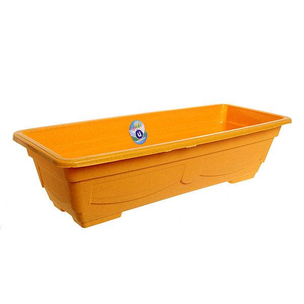 Кашпо для цветов садовое ″Ящик балконный″ 57х23х14см 3134 желтый купить оптом и в розницу