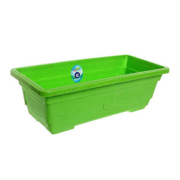 Кашпо для цветов садовое ″Ящик балконный″ 44х20х13см 3133 зеленый купить оптом и в розницу