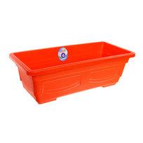 Кашпо для цветов садовое ″Ящик балконный″ 44х20х13см 3133 оранжевый купить оптом и в розницу