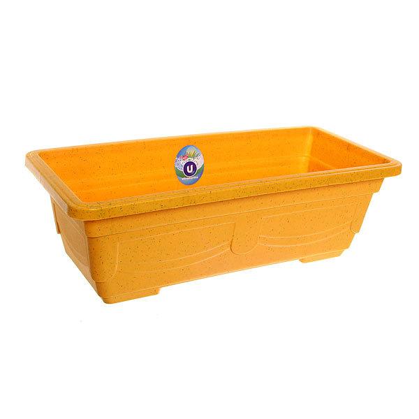 Кашпо для цветов садовое ″Ящик балконный″ 44х20х13см 3133 желтый купить оптом и в розницу