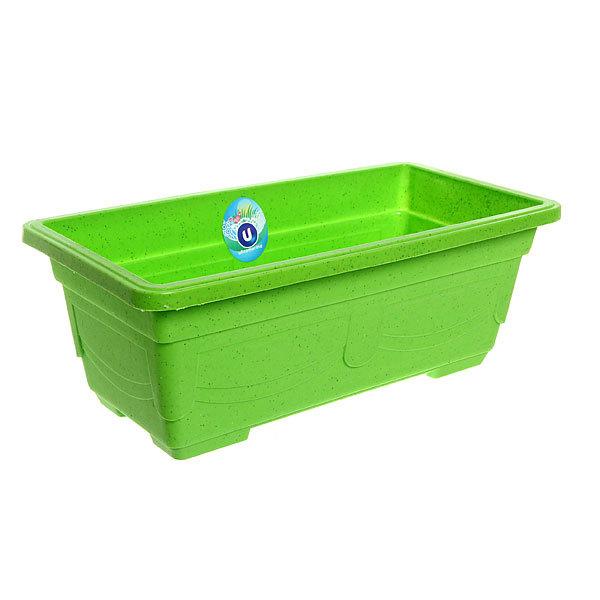 Кашпо для цветов садовое ″Ящик балконный″ 40х20х14см 3132 зеленый купить оптом и в розницу