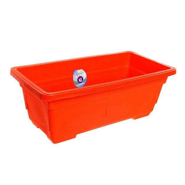 Кашпо для цветов садовое ″Ящик балконный″ 40х20х14см 3132 оранжевый купить оптом и в розницу