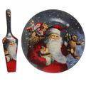 Тортница с лопаткой ″Дед Мороз с подарками″ 26см купить оптом и в розницу