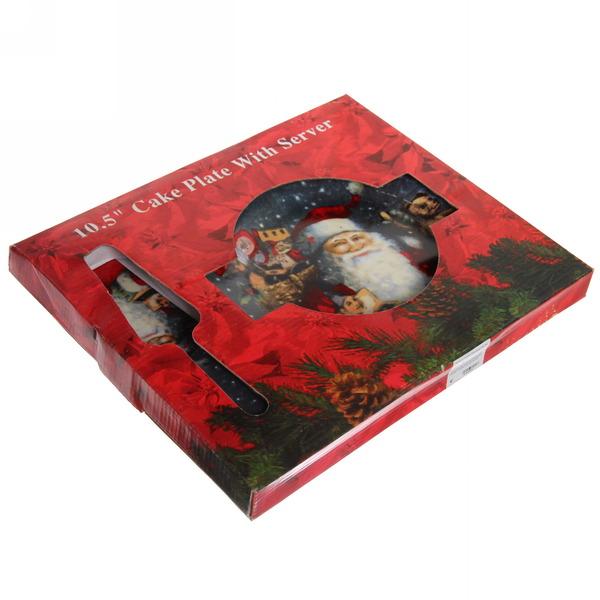 Тортница с лопаткой ″Дед Мороз с подарками ″ 26см купить оптом и в розницу