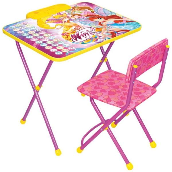 Набор детской мебели ″Винкс.Азбука″ складной, с пеналом, мягкий стул В2А купить оптом и в розницу
