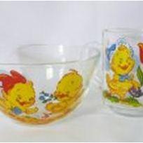 Набор детской посуды 2 предмета ″Цыплята″ 6 видов D1335/01+D10341/01 купить оптом и в розницу