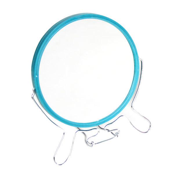 Зеркало настольное в пластиковой оправе ″Практика″ круг, подвесное, двухстороннее d-14см купить оптом и в розницу