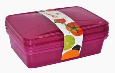 Комплект емкостей для продуктов Браво прямоугольных 1,35 л (3шт.) *22 купить оптом и в розницу