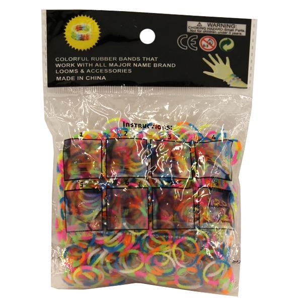 Набор ДТ Изготовление браслетиков Разноцветные 600 шт. 0100BN СМАЙЛЦЕНА купить оптом и в розницу