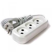 Удлинитель электрический 1,7 м/3 роз. б/з (ПВС 2*0,75) (1/35) купить оптом и в розницу