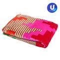 Плед 200*230см Абстракция микрофлис в сумке дизайн 1 Ультрамарин купить оптом и в розницу