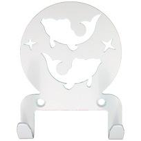 Крючок универсальный, серия ″Астрология″, модель ″Рыбы - 2″, цвет белый купить оптом и в розницу