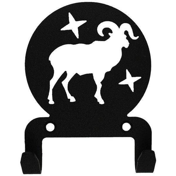Крючок универсальный, серия ″Астрология″, модель ″Овен - 2″, цвет черный купить оптом и в розницу
