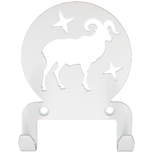Крючок универсальный, серия ″Астрология″, модель ″Овен - 2″, цвет белый купить оптом и в розницу