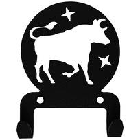 Крючок универсальный, серия ″Астрология″, модель ″Телец - 2″, цвет черный купить оптом и в розницу