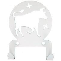 Крючок универсальный, серия ″Астрология″, модель ″Телец - 2″, цвет белый купить оптом и в розницу
