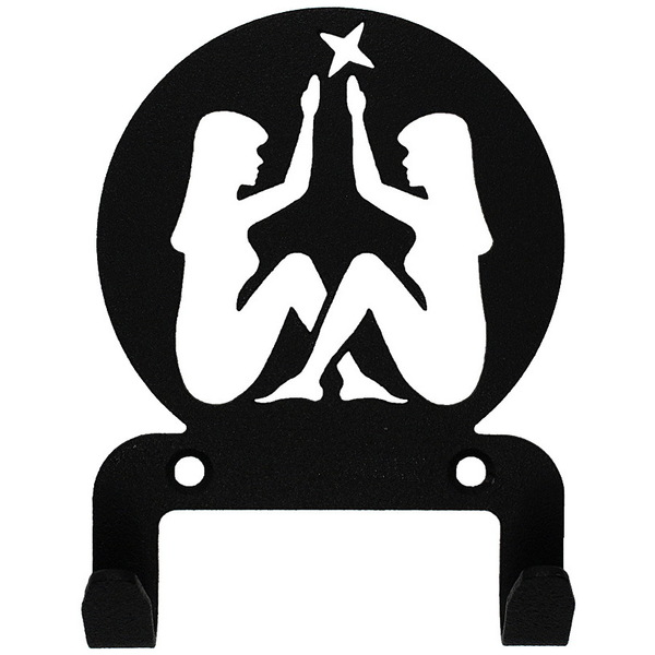 Крючок универсальный, серия ″Астрология″, модель ″Близнецы - 2″, цвет черный купить оптом и в розницу