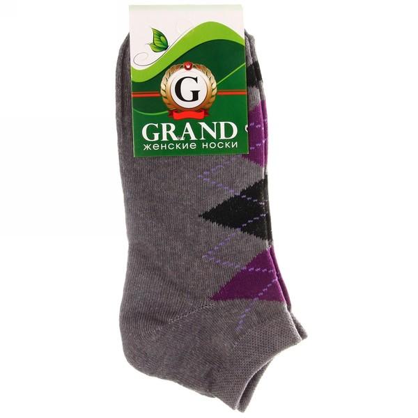 Носки женские GRAND, короткий паголенок, ромбы, цвет в ассортименте р. 23-25 купить оптом и в розницу