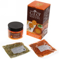 Подарочный набор №331 Geo Апельсин (скраб д/т+соль д/в) 1611 купить оптом и в розницу