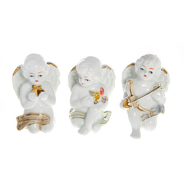 Фигурка из керамики ″Ангелочки Амурчики″ 7см (набор 3шт) W3755-1 купить оптом и в розницу