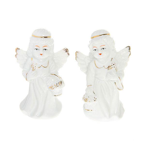 Фигурка из керамики ″Ангелочки милашки″ 10 см (набор 2 шт) купить оптом и в розницу