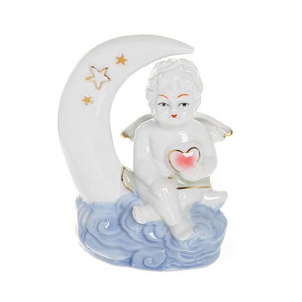Фигурка из керамики ″Ангелочек на месяце″ 11см W3753-1 купить оптом и в розницу
