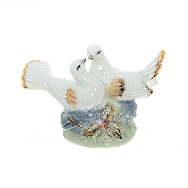 Фигурка из керамики ″Голубки Нежность″ 6,5*9,5см W3733-1 купить оптом и в розницу