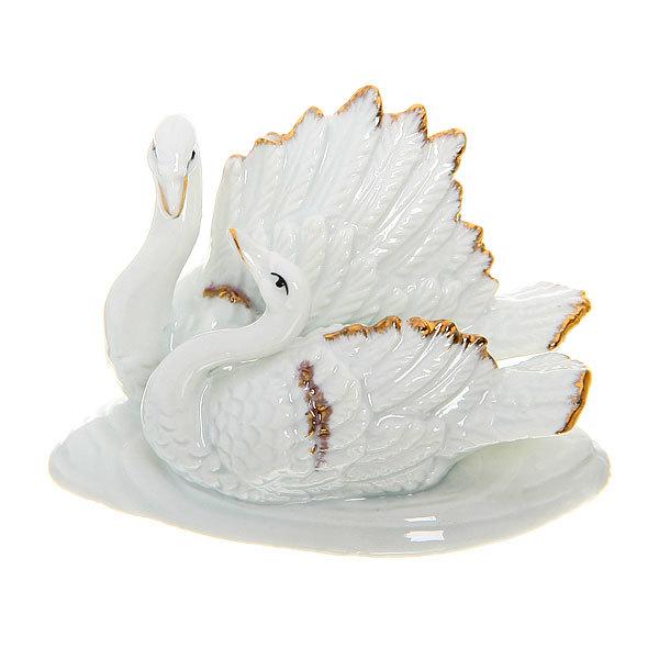 Фигурка из керамики ″Лебединая Верность″ 6,5*9см W37174-2 купить оптом и в розницу