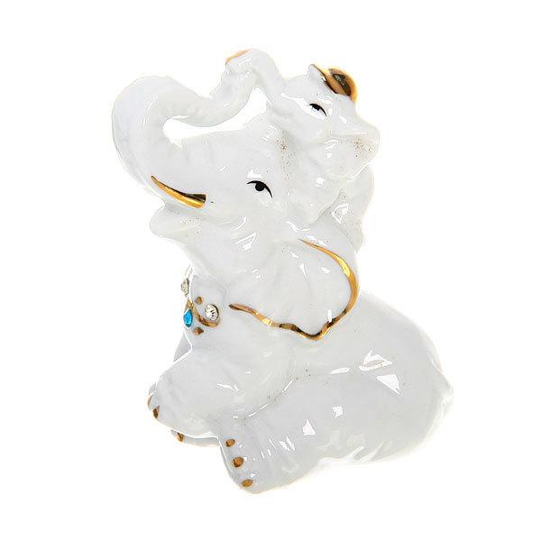 Фигурка из керамики ″Слон со слоненком″ 9*6см В2489 купить оптом и в розницу