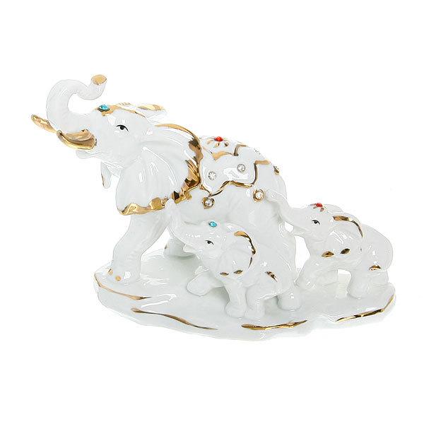 Фигурка керамическая ″Слоны семья″, 11,5*16см купить оптом и в розницу