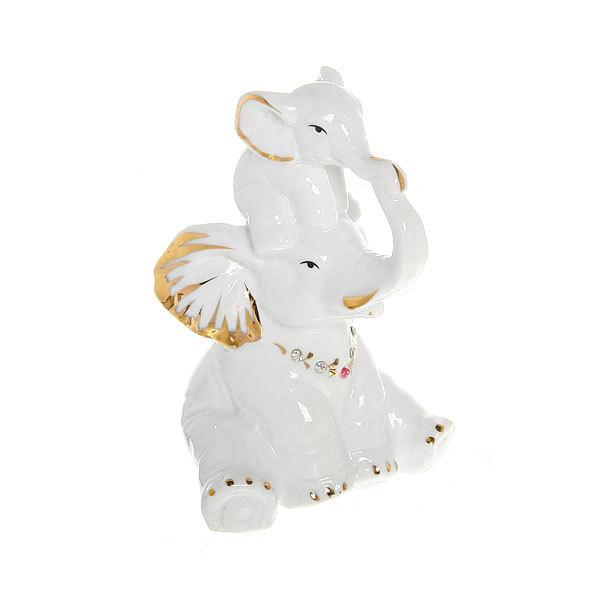 Фигурка керамическая ″Слоны семья″, 13*7,5см купить оптом и в розницу