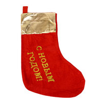 Носок новогодний 38х18 см ″С новым Годом″ бархатный купить оптом и в розницу