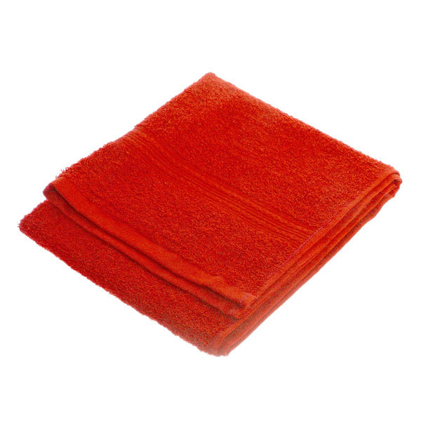 Махровое полотенце 40*70см красное ЭК70 Д01 купить оптом и в розницу