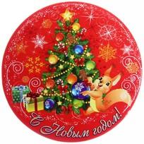 Подставка под кружку ″С Новым годом″, Белочка, 9 см купить оптом и в розницу