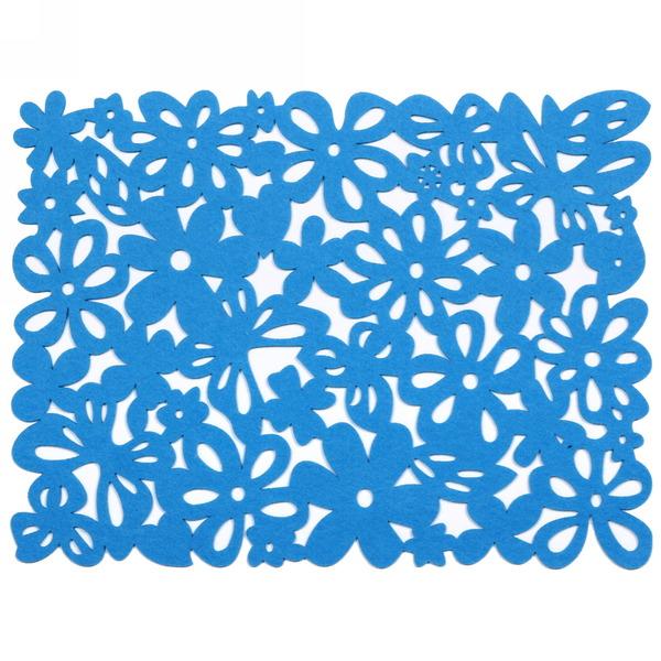 Салфетка на стол 40*30см Ажурная, Бабочки в цветах купить оптом и в розницу