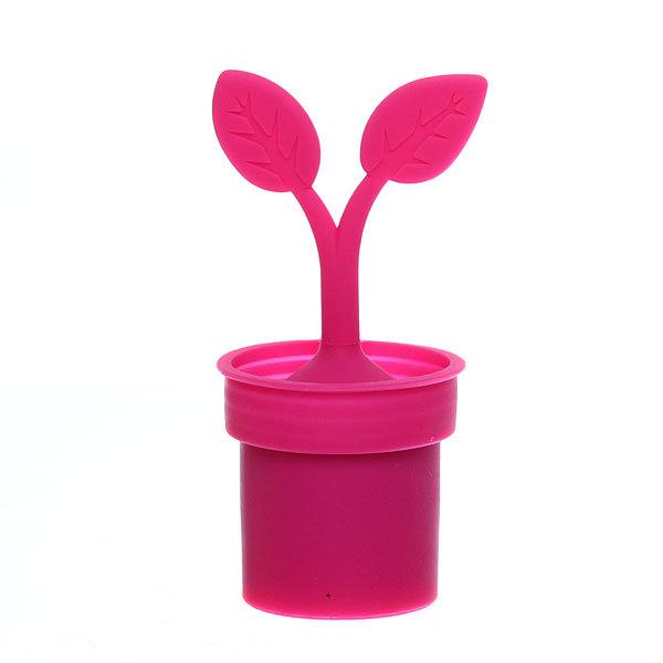 Ситечко для чая силиконовое ″Листики в горшочке″ купить оптом и в розницу