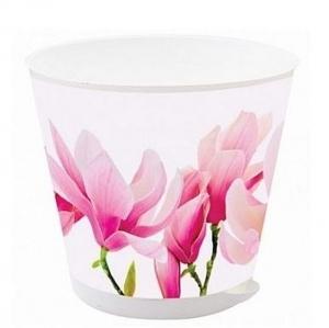 Горшок для цветов Крит D 120 mm с системой прикорневого полива 0,7л Орхидеи *16 купить оптом и в розницу