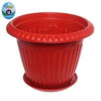 Горшок для цветов ЭКО Антик″ 19*25см SHY-25 красный купить оптом и в розницу