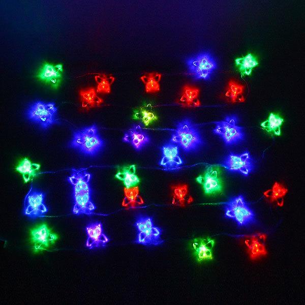 Гирлянда светодиодная 5,5м, 32 ламп LED, Бабочка бол, RG/RB(красный,зеленый/красный,синий), ав.реж., пр. пров. купить оптом и в розницу