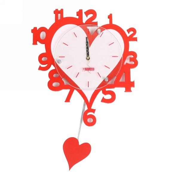 Часы настенные ″Сердечко″ с маятником 52*33см Т9010 купить оптом и в розницу