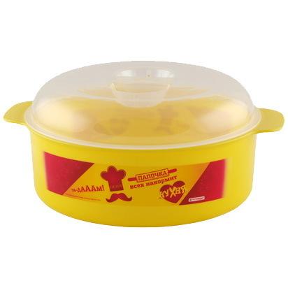 Кастрюля пластиковая для СВЧ ″Кухня″ 1,2л *12 купить оптом и в розницу